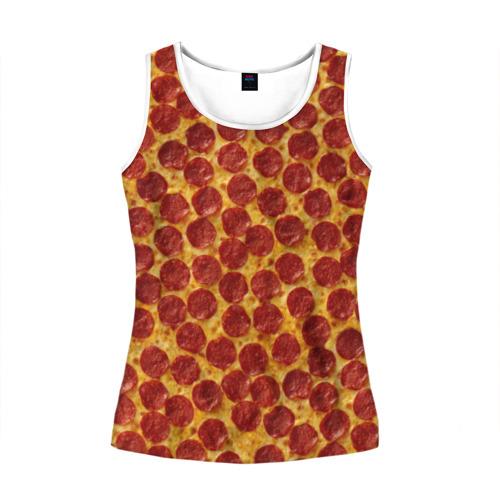 Женская майка 3D  Фото 01, Пицца пепперони