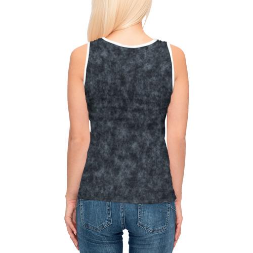 Женская майка 3D  Фото 04, Текстура джинсовая