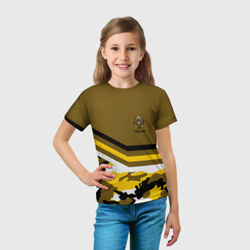 Детская футболка 3D Камуфляж Российская Империя Фото 01
