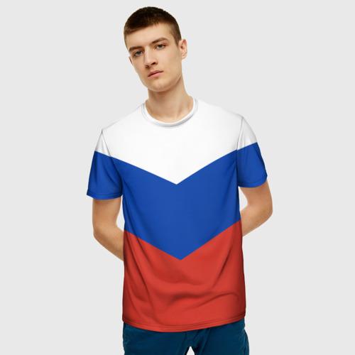 Мужская футболка 3D Россия Фото 01