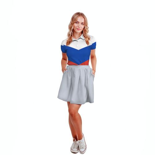 Женская рубашка поло 3D Россия Фото 01