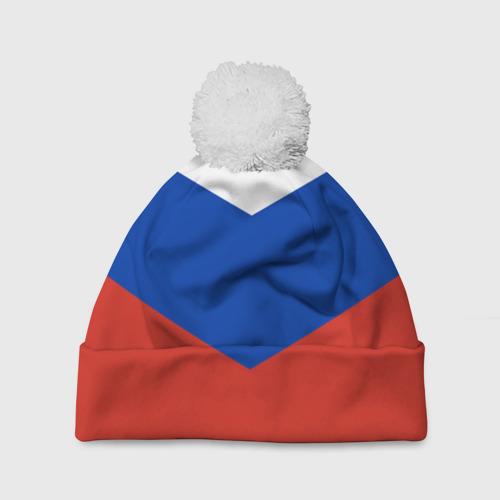Шапка 3D c помпоном Россия Фото 01
