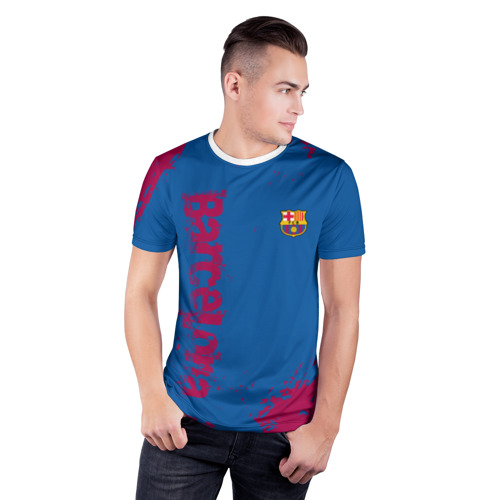 Мужская футболка 3D спортивная  Фото 03, BARCA SPORT