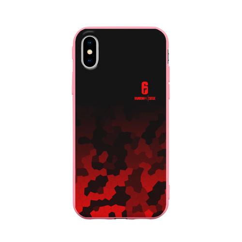 Чехол для Apple iPhone X силиконовый матовый RAINBOW SIX SIEGE OUTBREAK