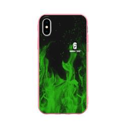 Чехол для Apple iPhone X силиконовый матовыйRAINBOW SIX SIEGE