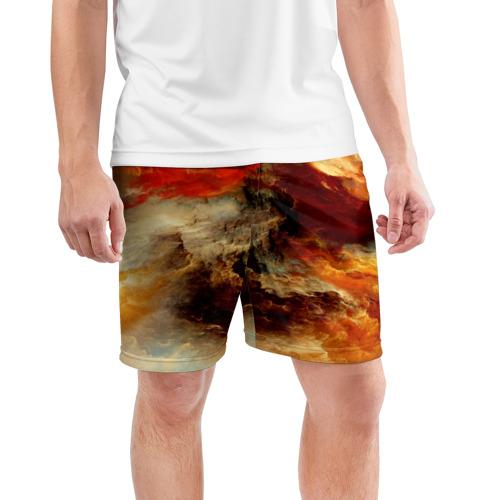 Мужские шорты 3D спортивные  Фото 03, огненное небо