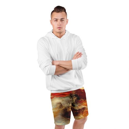 Мужские шорты 3D спортивные  Фото 05, огненное небо