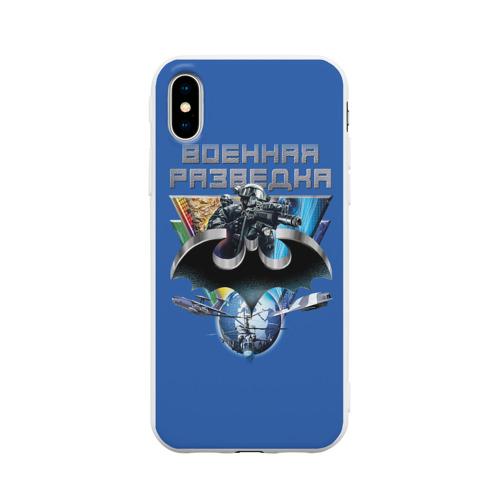 Чехол для Apple iPhone X силиконовый матовый Военная разведка