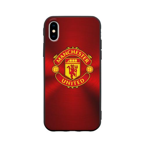 Чехол для Apple iPhone X силиконовый матовый Manchester United F.C.