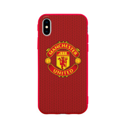 Чехол для iPhone X матовый Manchester United Knitted