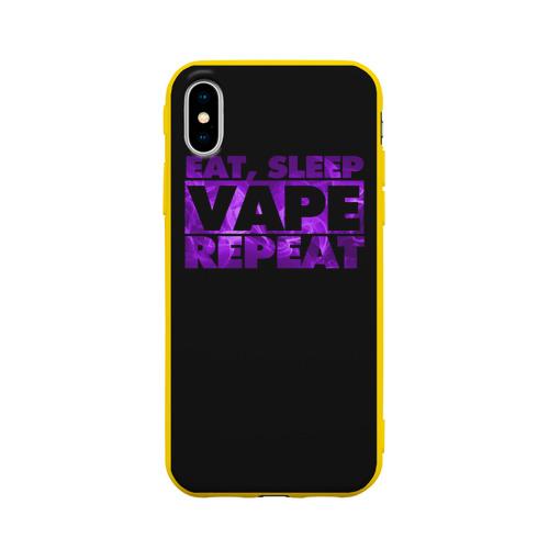 Чехол для Apple iPhone X силиконовый матовый Vape