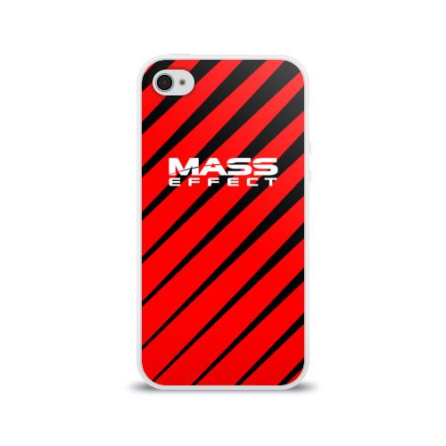 Чехол для Apple iPhone 4/4S силиконовый глянцевый  Фото 01, Mass Effect