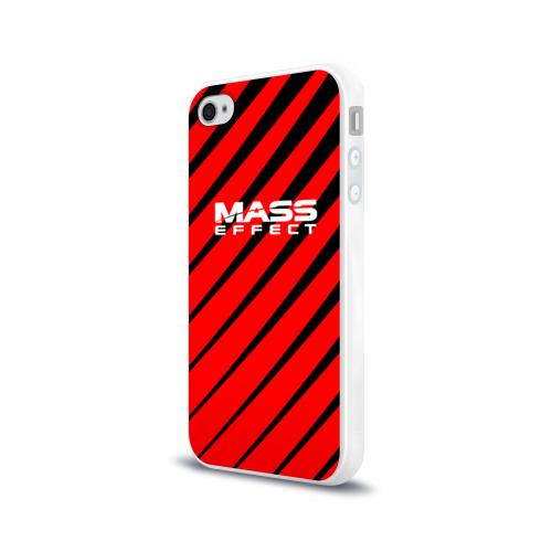 Чехол для Apple iPhone 4/4S силиконовый глянцевый  Фото 03, Mass Effect