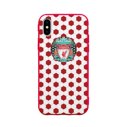 Чехол для Apple iPhone X силиконовый матовый FC Liverpool