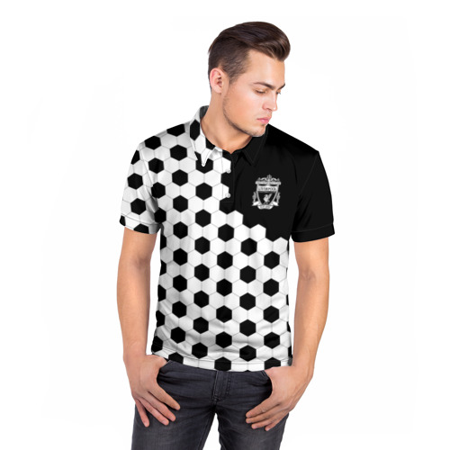 Мужская рубашка поло 3D  Фото 05, FC Liverpool