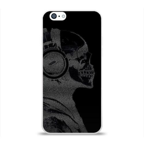 Чехол для Apple iPhone 6 силиконовый глянцевый  Фото 01, Музыкальный череп