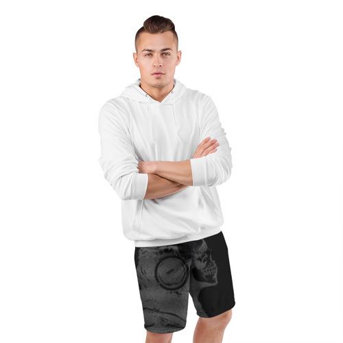 Мужские шорты 3D спортивные  Фото 05, Музыкальный череп