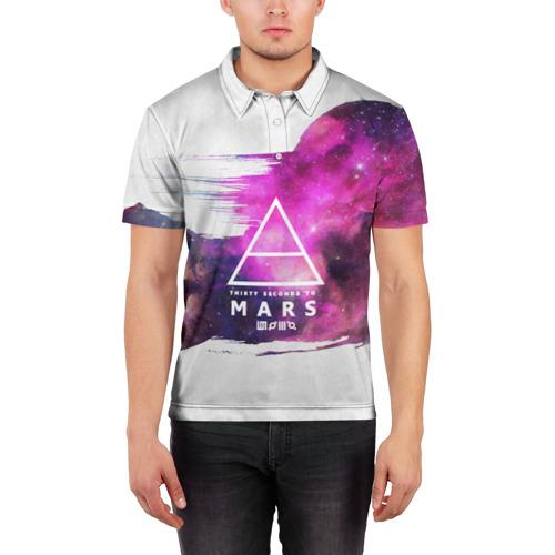 Мужская рубашка поло 3D  Фото 03, 30 Seconds to Mars