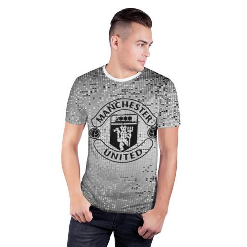 Мужская футболка 3D спортивная  Фото 03, Манчестер Юнайтед Pixels