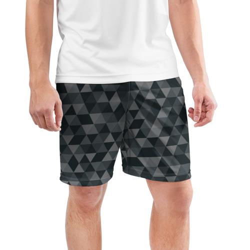 Мужские шорты 3D спортивные  Фото 03, Hipster gray