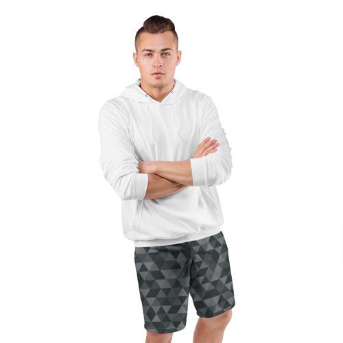 Мужские шорты 3D спортивные  Фото 05, Hipster gray