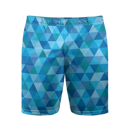 Мужские шорты 3D спортивные  Фото 01, Hipster blue