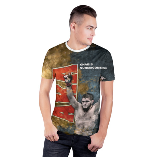 Мужская футболка 3D спортивная  Фото 03, Хабиб Нурмагомедов (the Eagle)