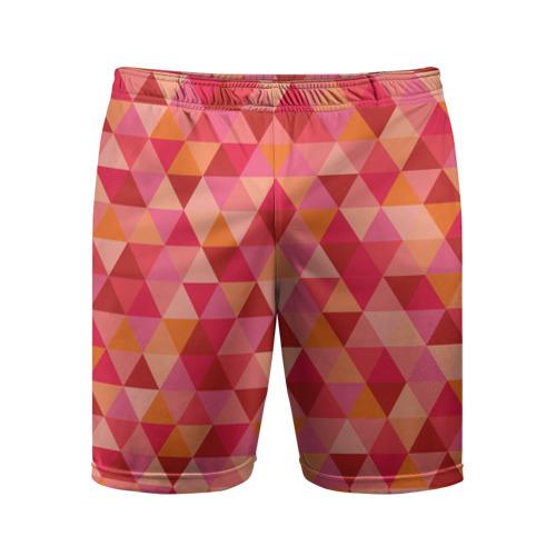 Мужские шорты 3D спортивные  Фото 01, Hipster red
