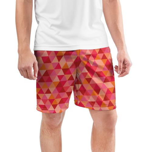 Мужские шорты 3D спортивные  Фото 03, Hipster red