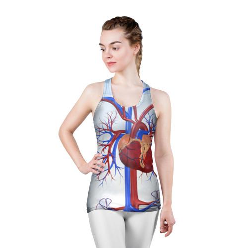 Женская майка 3D спортивная  Фото 03, Сердце