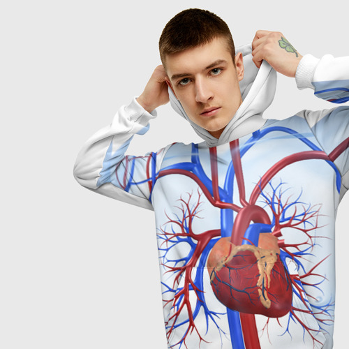 Мужская толстовка 3D  Фото 01, Сердце