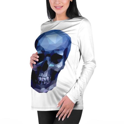 Женский лонгслив 3D для беременных  Фото 01, Бумажный череп
