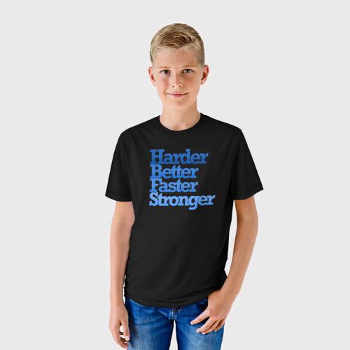 Детская футболка 3D  Фото 01, Выносливее, лучше, быстрее