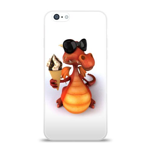 Чехол для Apple iPhone 6 силиконовый глянцевый  Фото 01, Добрый дракон