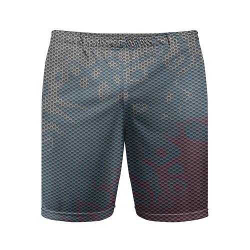 Мужские шорты 3D спортивные  Фото 01, Hexagon Триколор