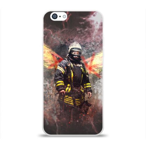 Чехол для Apple iPhone 6 силиконовый глянцевый  Фото 01, Пожарный