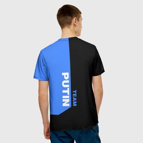 Мужская футболка 3D  Фото 02, Путин (небесный цвет)