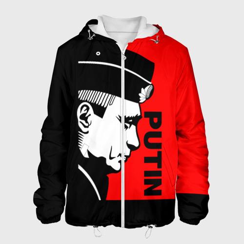 Мужская куртка 3D 'Путин (красный цвет)'