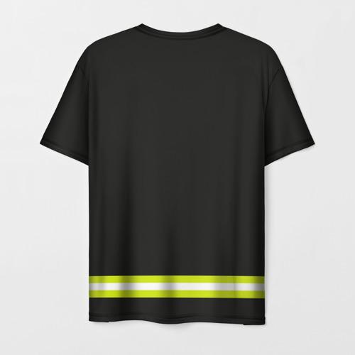 Мужская футболка 3D пожарная форма Фото 01