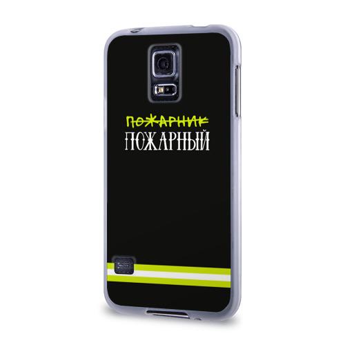 Чехол для Samsung Galaxy S5 силиконовый  Фото 03, пожарная форма