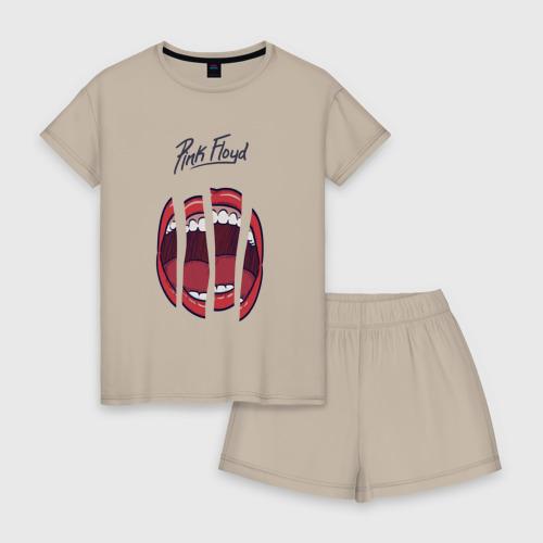 Женская пижама с шортиками хлопок Pink Floyd Фото 01
