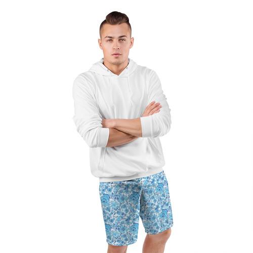 Мужские шорты 3D спортивные  Фото 05, Гжель