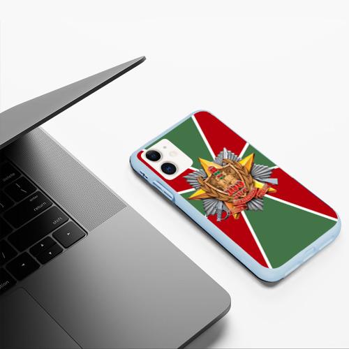 Чехол для iPhone 11 матовый 100 лет пограничных войск Фото 01