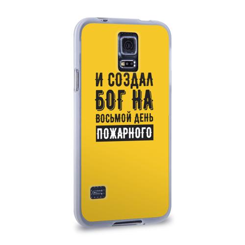 Чехол для Samsung Galaxy S5 силиконовый  Фото 02, Создал Бог пожарного