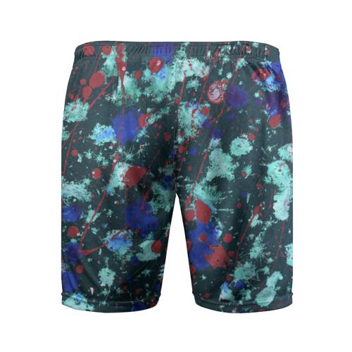 Мужские шорты 3D спортивные  Фото 02, Абстракция красок