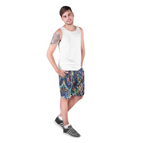 Мужские шорты 3D  Фото 03, Разноцветные краски