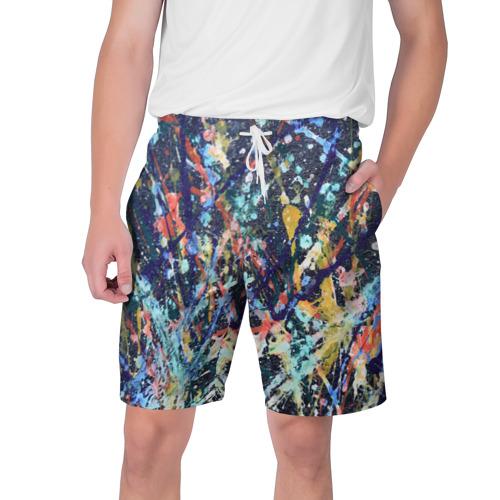 Мужские шорты 3D  Фото 01, Разноцветные краски