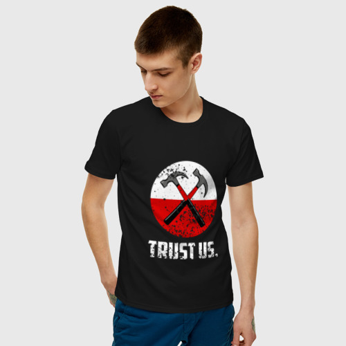Мужская футболка хлопок Trust us.  Фото 01