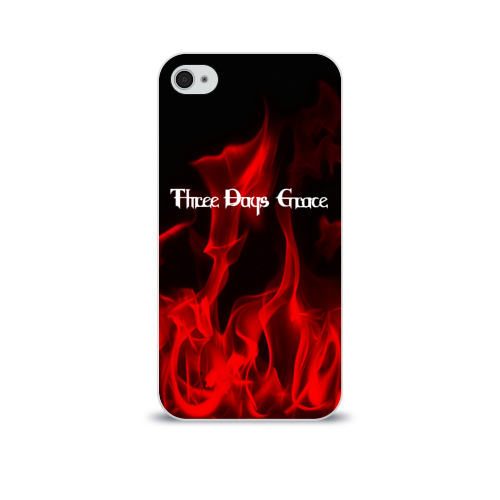Чехол для Apple iPhone 4/4S soft-touch  Фото 01, Three Days Grace