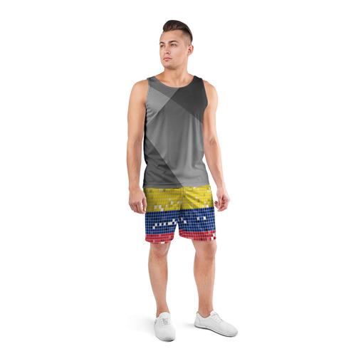 Мужские шорты 3D спортивные  Фото 04, Флаг Колумбии